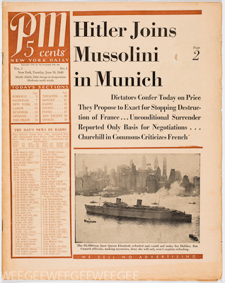 PM Daily, newspaper, 1940